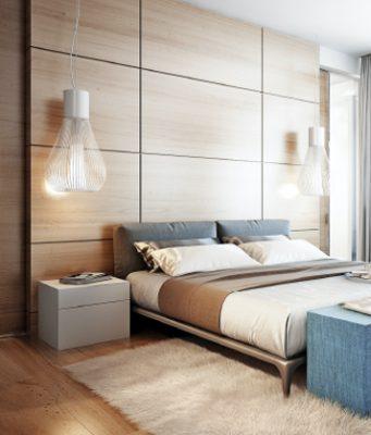 Cleaned modern hotel room