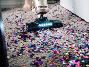Vacuuming Confetti