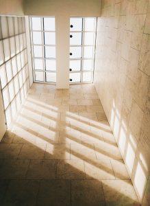 Clean stone floors