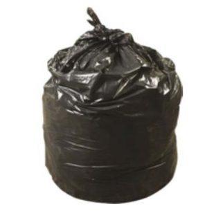 Full black trash bag