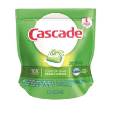 Package of cascade dishwasher pods