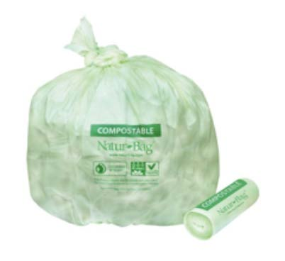 Full green compostable trash bag