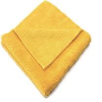 Folded yellow microfiber towel