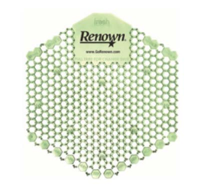Green renown urinal screen