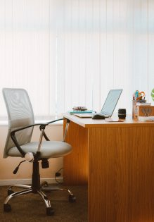 Clean well organized office