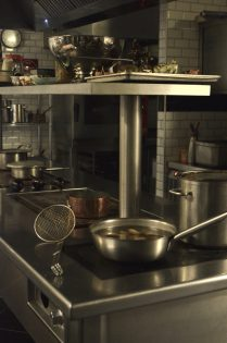 Industrial Kitchen with Pots and Eco Grip Flooring